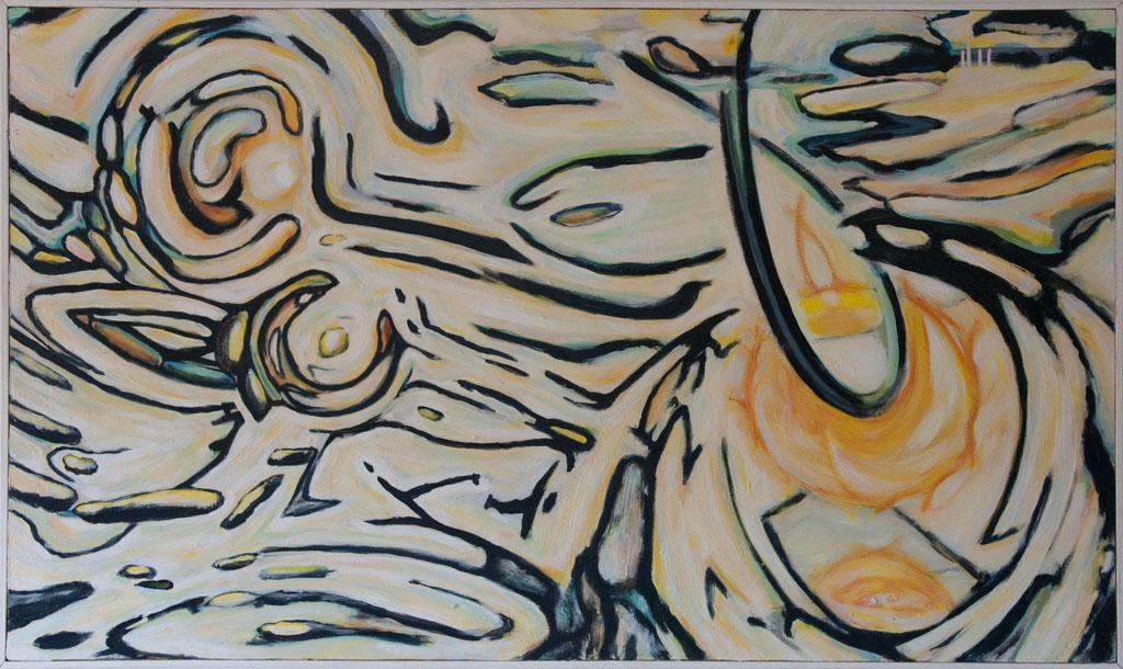 East 1986, 120x70, acrylic on canvas