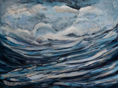 Silent storm 2009, 160×120, acrylic on canvas