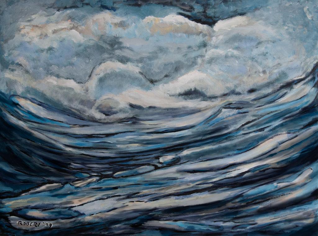 Storm 2009, 160×120, acrylic on canvas