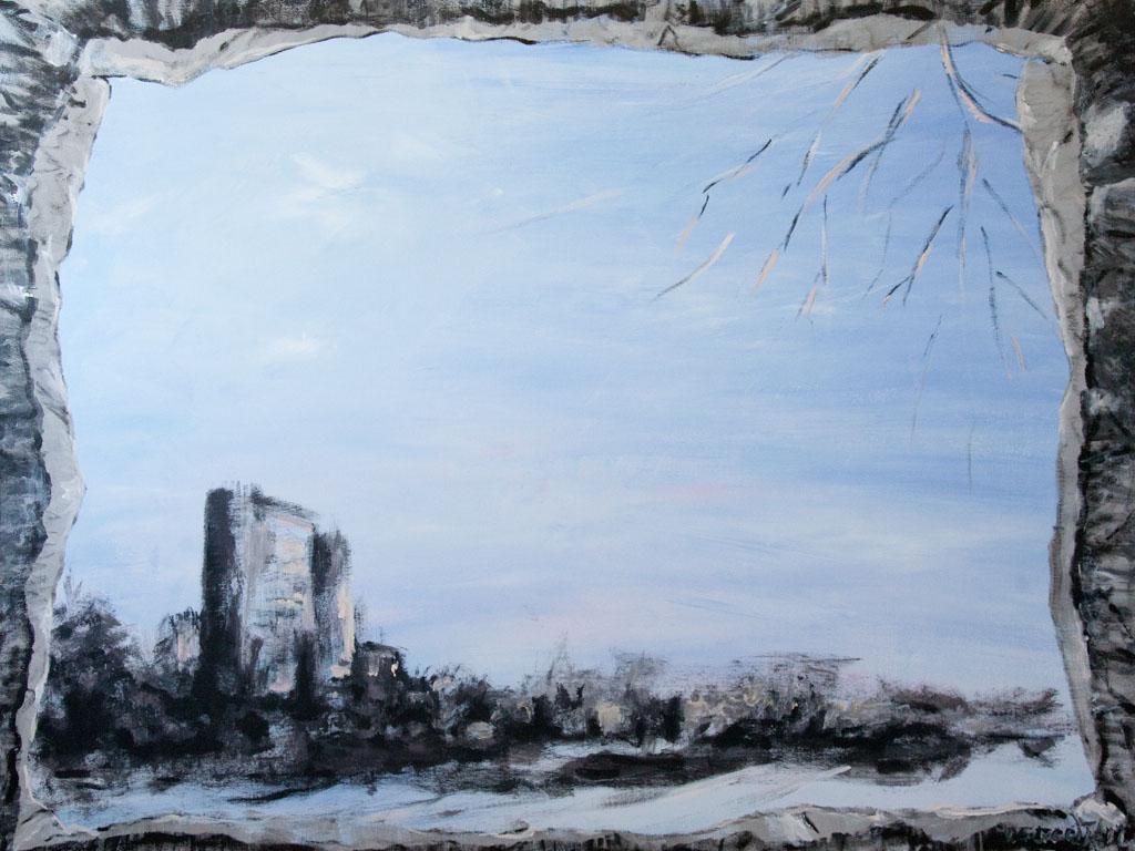 Comatose City 2011, 160×120, acrylic on canvas