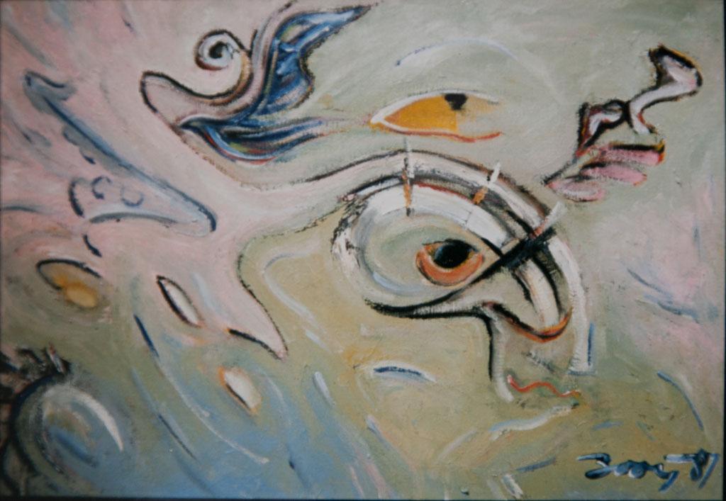 Kakares 1987, 60×40, oil on canvas