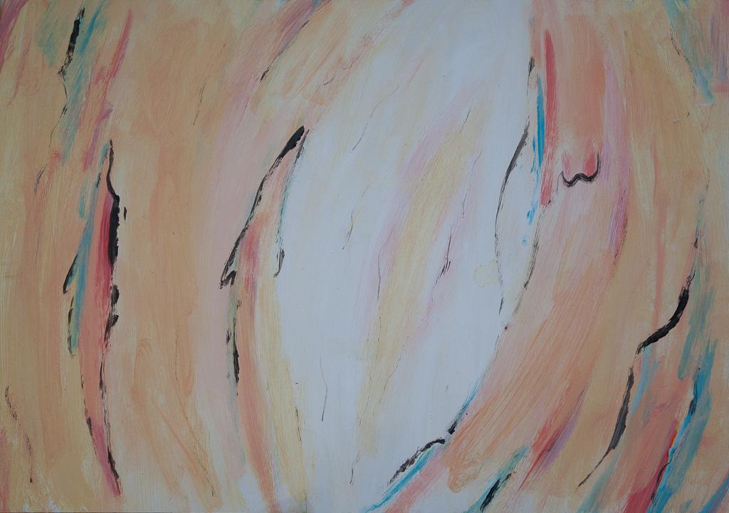 Into the wild 1991, 70x50, gauche on paper