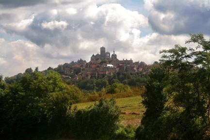 Zicht op Vezelay
